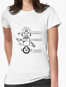 Robot funny cool fast funny dick comic Womens Fitted T-Shirt