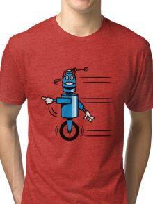 Funny cool fast funny robot comic Tri-blend T-Shirt