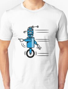 Funny cool fast funny robot comic Unisex T-Shirt