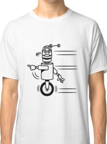 Funny cool fast funny robot comic Classic T-Shirt
