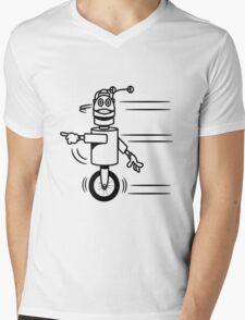 Funny cool fast funny robot comic Mens V-Neck T-Shirt