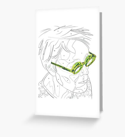 Adults Colouring in Glasses Print Greeting Card
