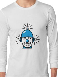 Funny cool wheels pears comic funny robot Long Sleeve T-Shirt