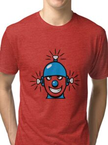 Funny cool wheels pears comic funny robot Tri-blend T-Shirt