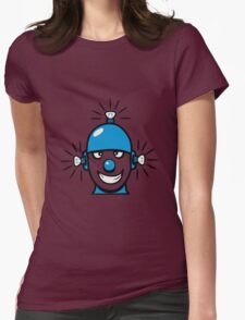 Funny cool wheels pears comic funny robot Womens Fitted T-Shirt