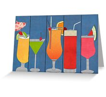 Fruit Drinks Greeting Card