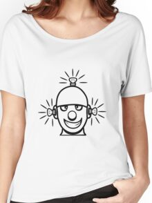 Funny cool wheels pears comic funny robot Women's Relaxed Fit T-Shirt