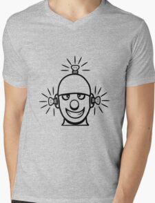Funny cool wheels pears comic funny robot Mens V-Neck T-Shirt