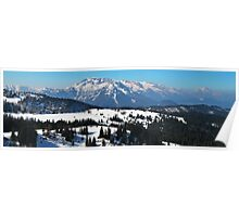 Panorama of Austrian Alps Poster
