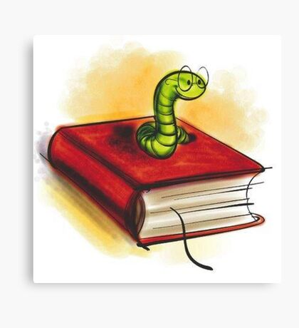 clever worm Canvas Print