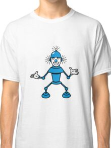 Robot funny cool light up comic fun Classic T-Shirt