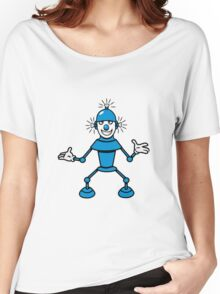 Robot funny cool light up comic fun Women's Relaxed Fit T-Shirt