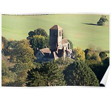 Priory from Herefordshire Beacon Poster