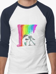 Robo Rainbow Respite Men's Baseball ¾ T-Shirt