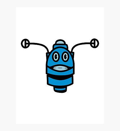 Funny cool robot head funny comic Photographic Print