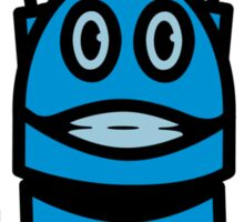 Funny cool robot head funny comic Sticker