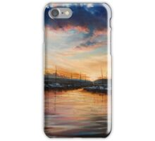 sunset in the harbor iPhone Case/Skin