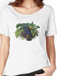Vintage Owls Illustration Women's Relaxed Fit T-Shirt