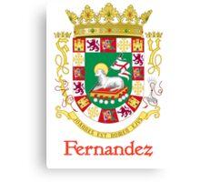 Fernandez Shield of Puerto Rico Canvas Print