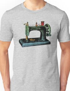 Vintage Sewing Machine Illustration Unisex T-Shirt
