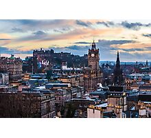 A Calton hill sunset Photographic Print