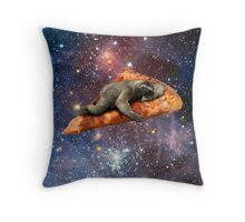 Pizza Sloth In Space Throw Pillow