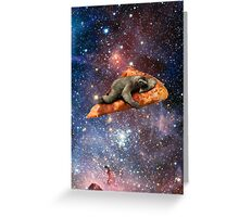 Pizza Sloth In Space Greeting Card