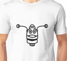 Funny cool robot head funny comic Unisex T-Shirt
