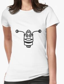 Funny cool robot head funny comic Womens Fitted T-Shirt