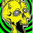 Best Medicine-Psychedelic Skull by ARTmuffin