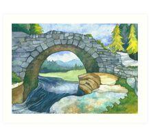 Pont Y Llyn Ddu Art Print