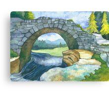 Pont Y Llyn Ddu Canvas Print