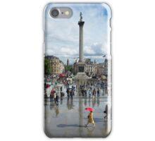 Showery day in Trafalgar Square. iPhone Case/Skin