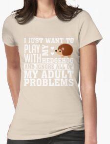 Hedgehog Womens Fitted T-Shirt