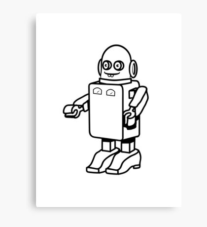 Robot funny cool design funny cartoon Canvas Print