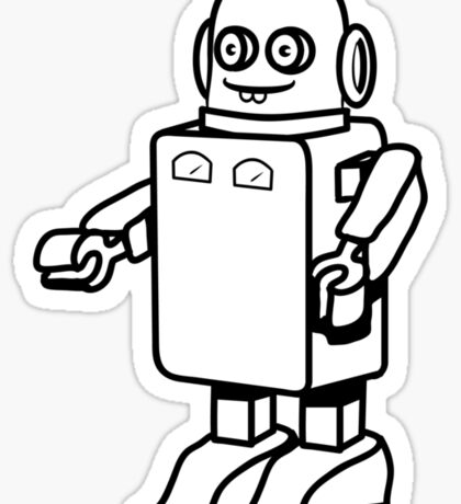 Robot funny cool design funny cartoon Sticker