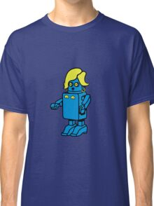 Robot funny cool design woman funny comic Classic T-Shirt