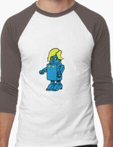 Robot funny cool design woman funny comic Men's Baseball ¾ T-Shirt