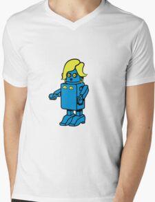 Robot funny cool design woman funny comic Mens V-Neck T-Shirt