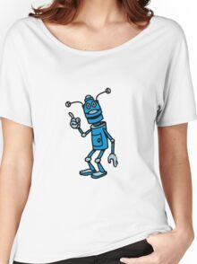 Robot funny cool attention fun comic Women's Relaxed Fit T-Shirt