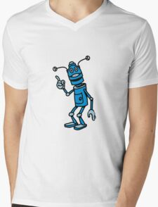 Robot funny cool attention fun comic Mens V-Neck T-Shirt