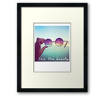 See The Beauty Framed Print
