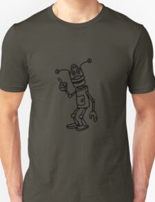 Robot funny cool attention fun comic Unisex T-Shirt