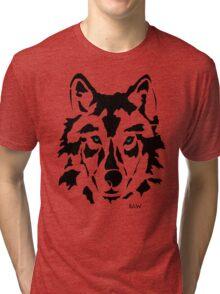 RAW WOLF STENCIL TEE Tri-blend T-Shirt