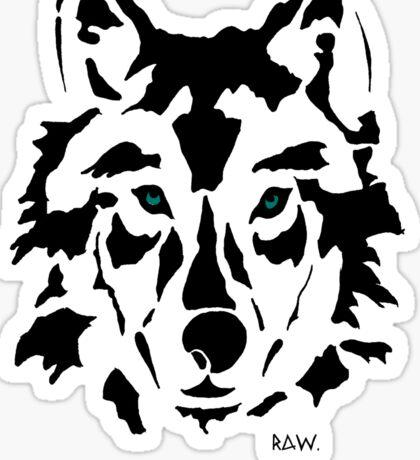 RAW WOLF STENCIL TEE Sticker