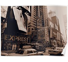 New York Times Square Sepia Poster