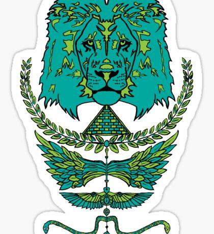 RAW LION TOTEM TEE Sticker
