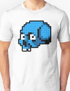 8 Bit Skull - Blue Unisex T-Shirt