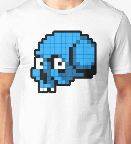 8 Bit Skull - Blue T-Shirt