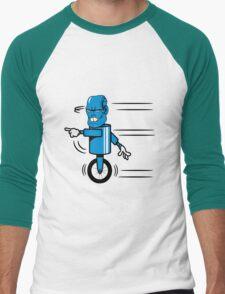 Robot monster funny cool fast funny comic Men's Baseball ¾ T-Shirt